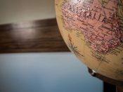 Australia map globe